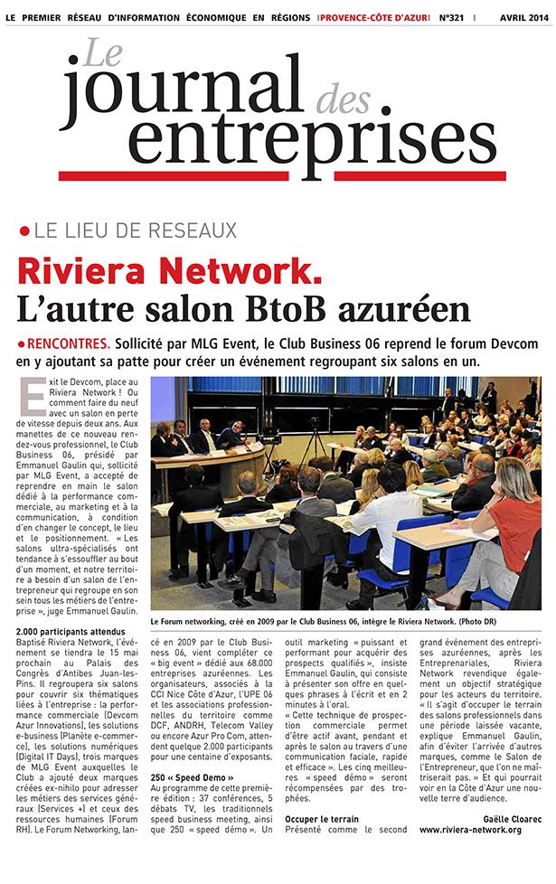 Article Journal des Entreprises du 4 avril 2014