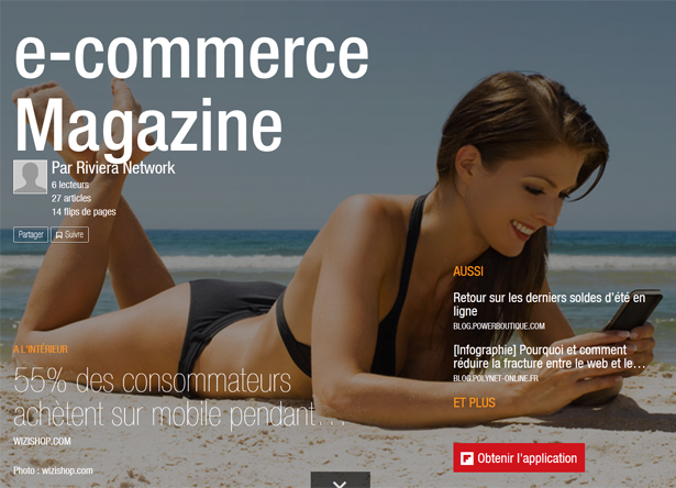 e-commerce flipboard