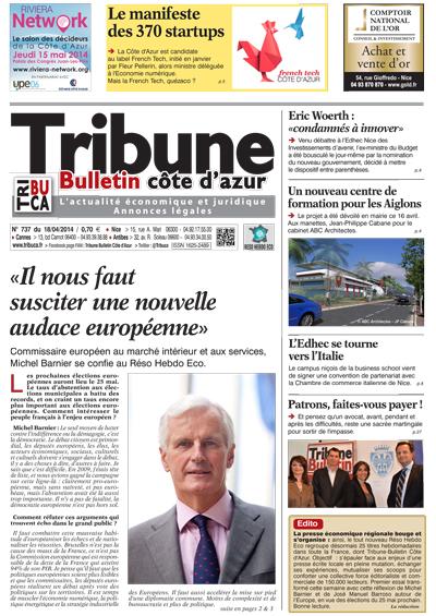 Tribune Bulletin Côte d'Azur du 18 avril mars 2014
