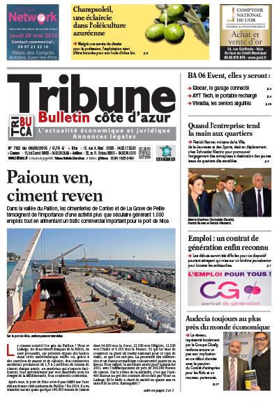 Tribune Bulletin Côte d'Azur du 06 mars 2015