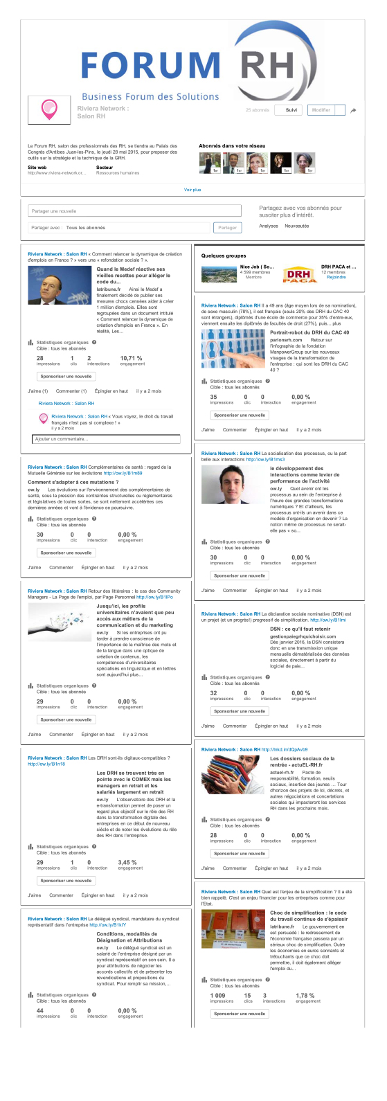 Page Forum RH sur Linkedin