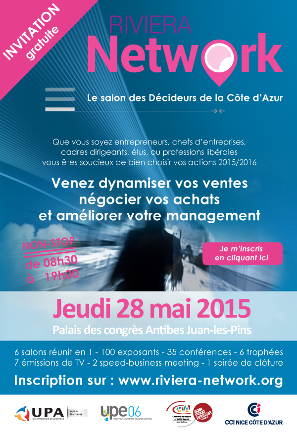 Invitation salon Riviera Network 2015